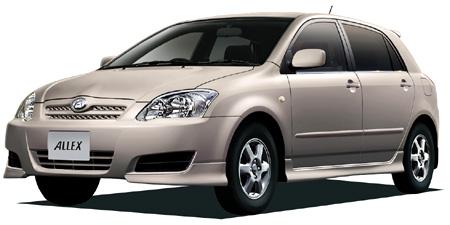 トヨタ アレックス   トヨタのヨーロピアンスタイリッシュプレミアム、5ドアハッチバックのアレ.
