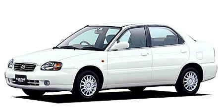 スズキ カルタス   カルタスはスズキが作る小型車で、ボディタイプは4ドアノッチバックセダン..